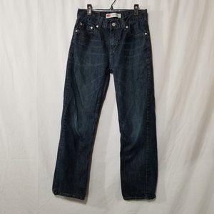 Levis 514 blue straight jeans